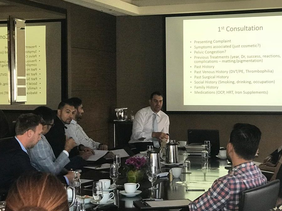 Dr Paraskevas Presents at the ACCS and the ACP Annual Sclerotherapy Workshop